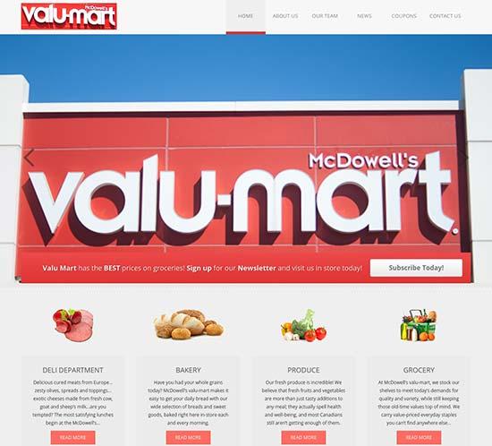 WordPress Web Design - McDowell's Valu Mart