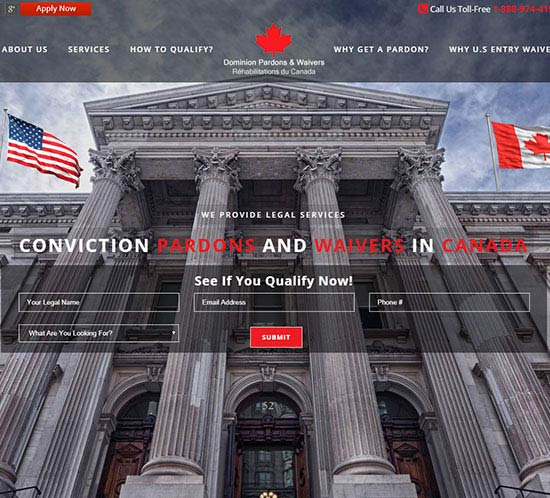 Dominion Pardons WordPress Web Design