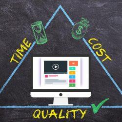 web site development cost value