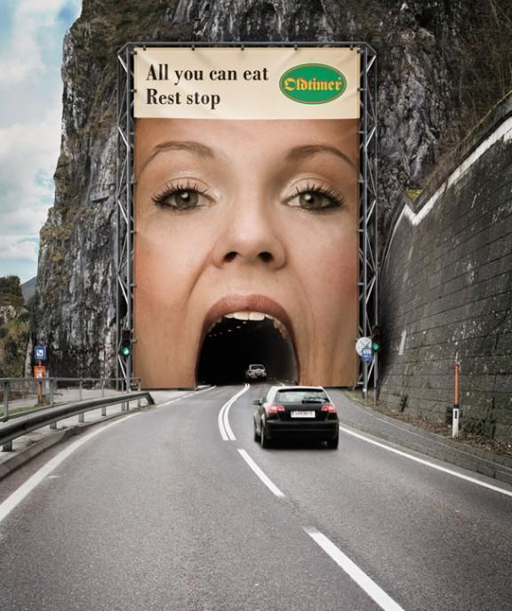 Guerilla marketing billboard example