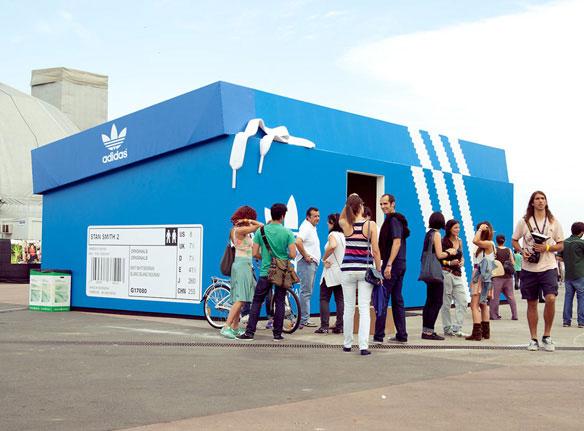 Adidas Shoe Box Pop-up Shop Guerilla Marketing