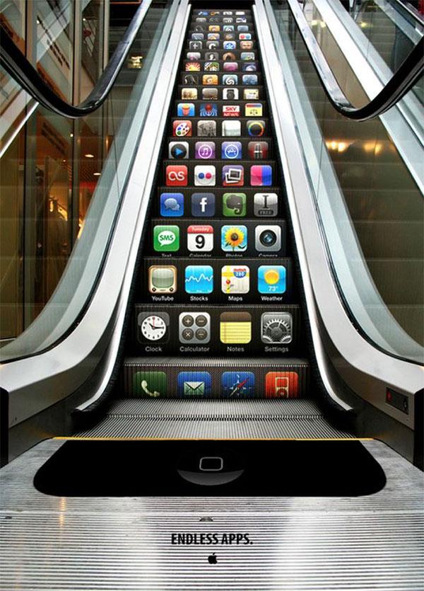 Apple iphone guerilla marketing
