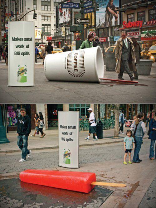 Bounty Guerilla Marketing Advertising