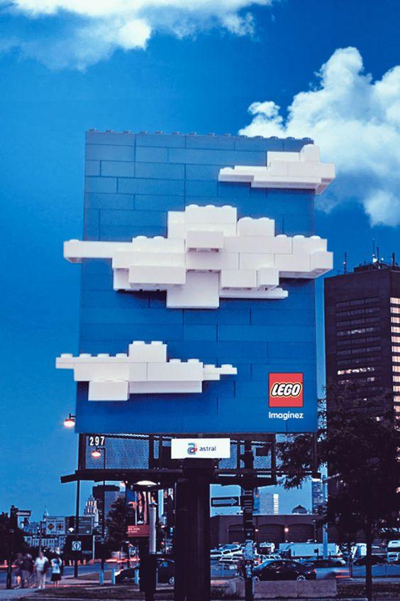 Lego Guerilla Advertising Billboard
