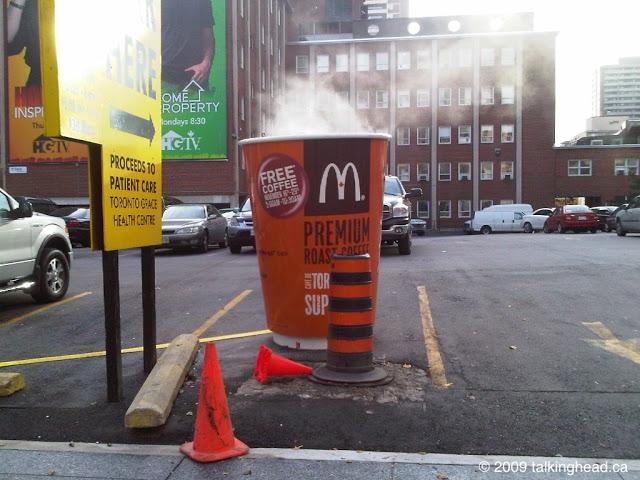 McDonalds Coffee Cup guerilla marketing
