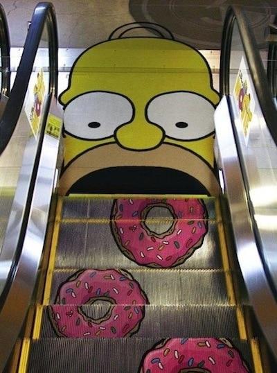 Simpsons guerilla marketing