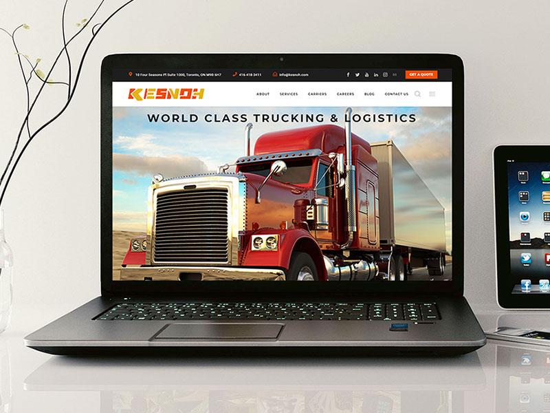 Kesnoh Trucking and Logistics WordPress Web Design