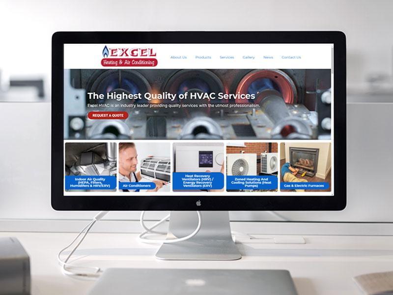 hvac web design excelhvac website design